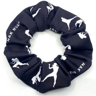 Picture of Nak Muay (Dark Grey & White) Scrunchie